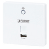 Punto de Acceso Inalámbrico en Pared PLANET™ con Cargador USB (300Mbps 802.11n) - (Tipo UE, 802.3af / at)//PLANET™ In-Wall Wireless Access Point w/ USB Charger (300Mbps 802.11n) - (EU Type, 802.3af/at)