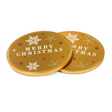 Our new chocolate Medallions join our Winter Collection this year. This 125mm promotional chocolate coin is covered in gold foil and branded with a clear vinyl sticker that allows you to incorporate the golden festive design into your branding. This is a great promotional giveaway, especially for the festive season.