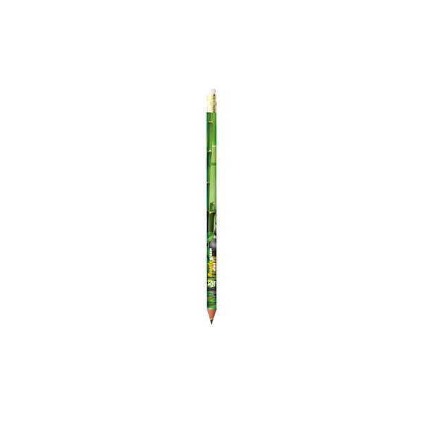 This eco friendly promotional pencil features 360º photo quality full colour imprint on a wood-free pencil in synthetic resin, material made with 46% recycled material, that will not splinter in the event of breaking. Resistant HB grade lead. With your full colour company design printed, this will really catch the eye