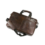 This promotional laptop bag is made from genuine leather and can be branded with a blind embossed logo. The bag has a padded laptop compartment and several exterior pockets