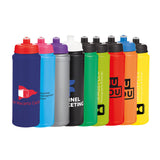 This promotional water bottle can be branded with a 1 colour print and has a 750ml capacity.  This drinks bottle is available in a range of colours