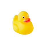 This promotional rubber duck can be branded with a full colour print to the front and is made from PVC