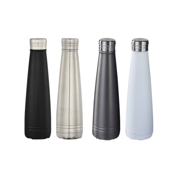 This promotional thermal flask is made from stainless steel and features vacuum insultion. This flask can be branded with a laser engraved logo and has a 500ml capacity. This mug keeps hot drinks hot for 12 hours and cold drinks cold for 48 hours