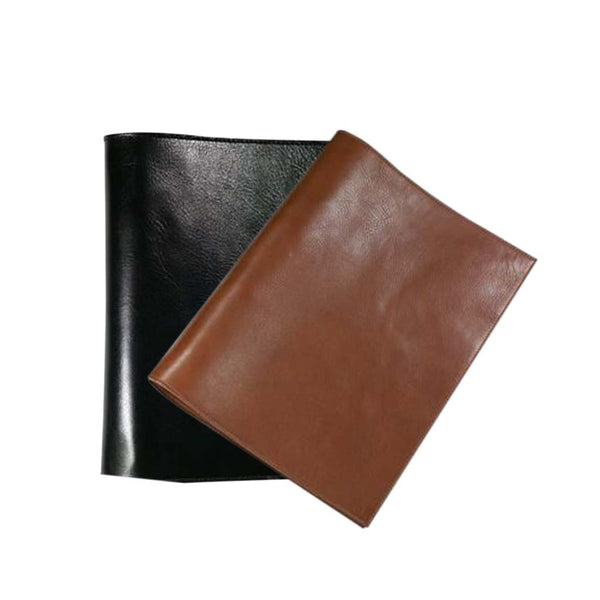 This promotional A4 ring binder is made from genuine leather and can be branded with a blind embossed logo. This folder is supplied with a 4 ring mechanism