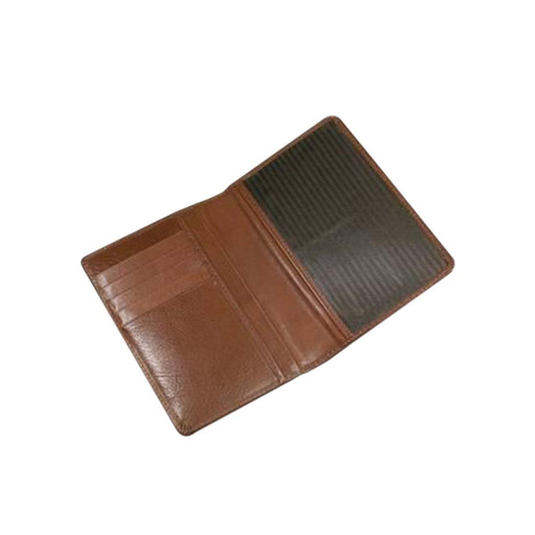 This promotional passport wallet can be branded with a blind embossed logo to the front. It also includes pockets for credit cards and currency