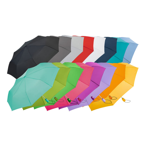 This promotional umbrella can be branded with a 1 or full colour print to 1 panel and features an automatic function for quick opening and has a high quality windproof system