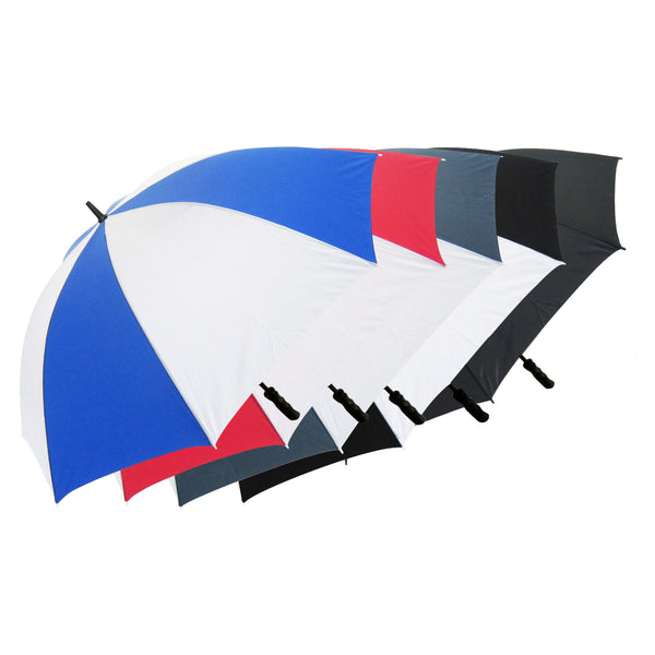 This promotional umbrella can be branded with a 1 colour or full colour print to 1 panel. This umbrella features a stormproof fibreglass stem and rib. A ergamonic black pistol grip handle is supplied as standard.