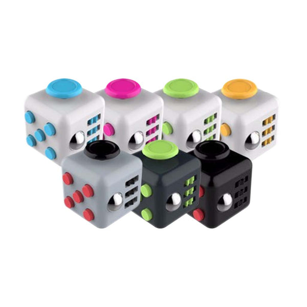 This promotional fidget cube can be branded with a 1 or 2 colour print to 1 side. This product comes in a range of colour options