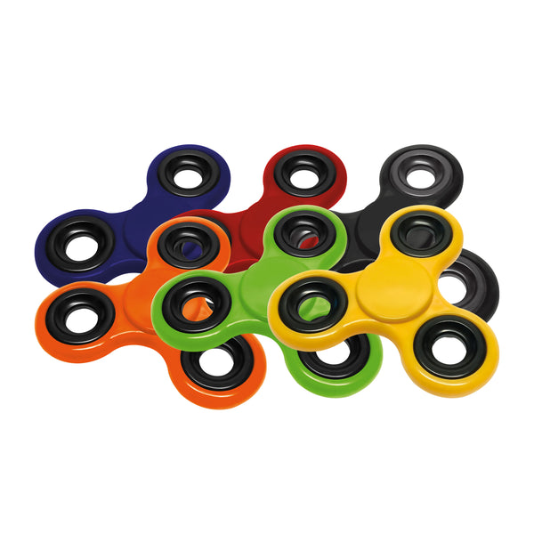 This promotional fidget spinner can be branded either with a 1 colour print or a full colour epoxy dome to the middle. This product comes in a range of bright colours