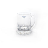 This promotional tankard features a star base and is handmade. This tankard is branded with your logo laser engraved onto the side of the glass