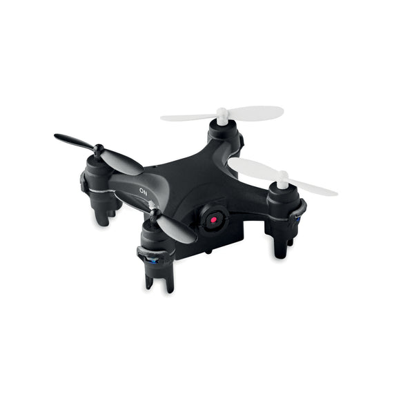 This promotional drone is rechargeable and can be branded with a 1 colour print. This drone features a built in camera and micro SD card slot
