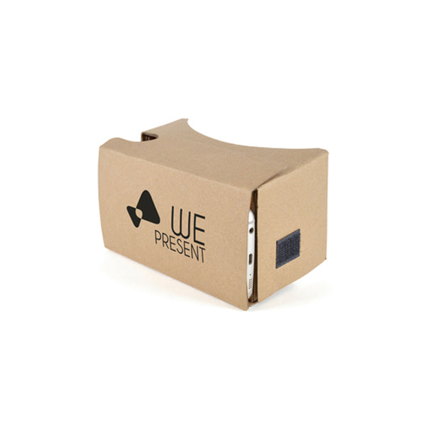 This promotional VR headset can be branded with a 1 colour print to the front. This headset allows you to turn your smartphone into a VR device. This item includes a 60cm velcro head strap