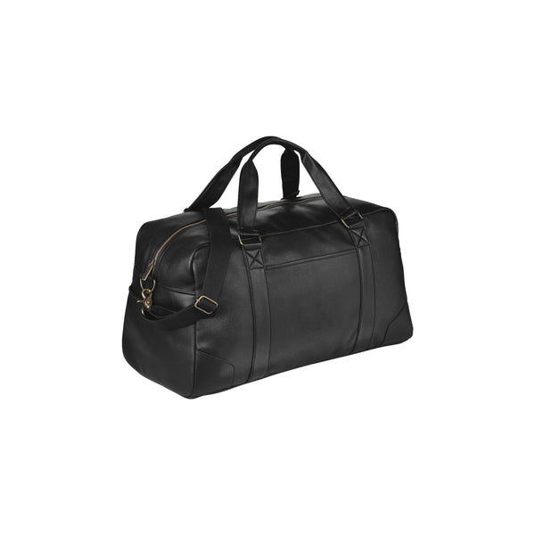 This promotional duffel bag can be branded with a 1 colour print and is made from high quality imitation leather