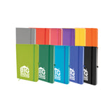 This A7 promotional notebook is made from soft PU and contains 80 lined pages, a pen loop and a bookmark. This notebook can be branded with a 1 colour print to the front