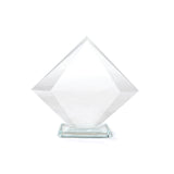 This promotional award is made from clear glass and is branded with your logo or message to the center of the award.