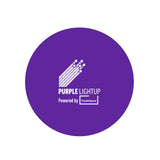 Purple stress ball printed in white with the Purple Light Up logo in 1 colour. *Price includes delivery to 1 UK address*