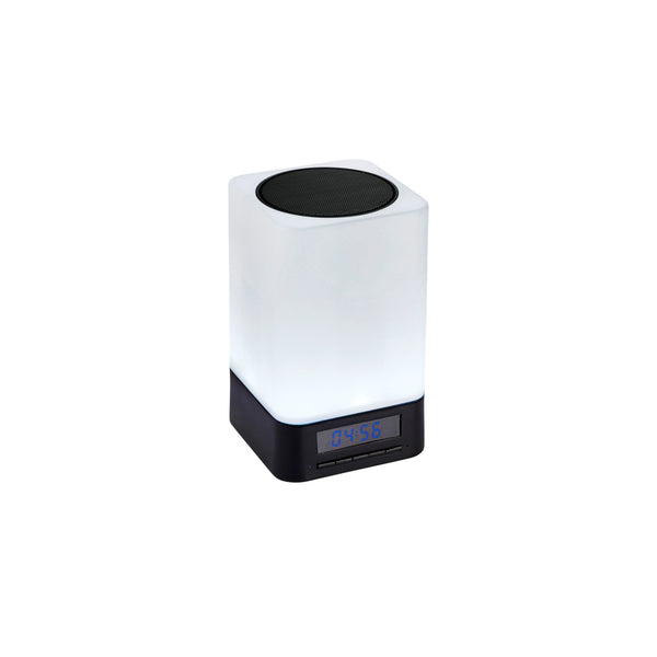 This promotional bluetooth speaker can be branded with a 1 colour print and features a colour changing moodlight.