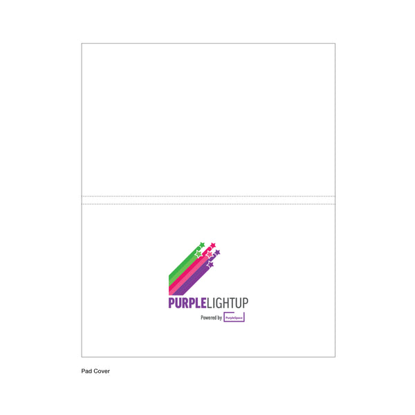Adhesive note pad & page marker index flag set branded with PurpleLightUp. This set includes 25 sticky notes and page markers in 5 neon fluorescent colours. *Price includes delivery to 1 UK address*