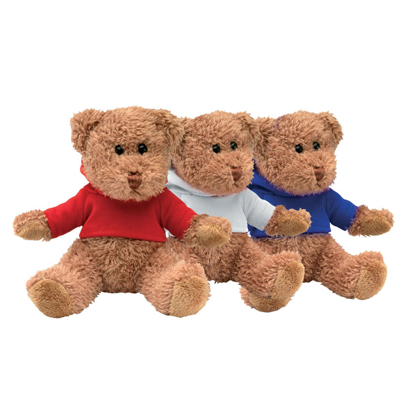 This promotional teddy bear includes a red, white or blue t-shirt which can be branded with your company logo