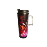 This promotional travel mug can be branded with a full colour printed insert and features a double walled design. This thermal mug also features a leak proof screw fix lid and has a 350ml capacity