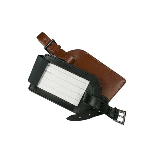 This promotional luggage tag is made from genuine leather and can be branded with a blind embossed logo. This promotional tag comes in black or tan colours