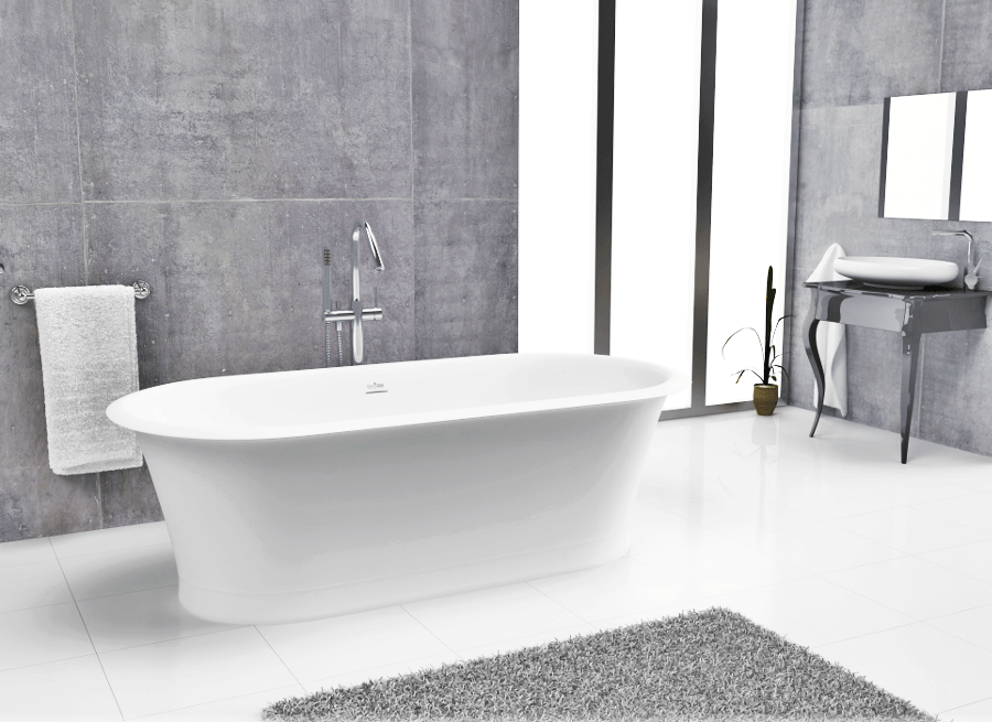 Bañera moderna Solid Surface 180cm CLASSIC
