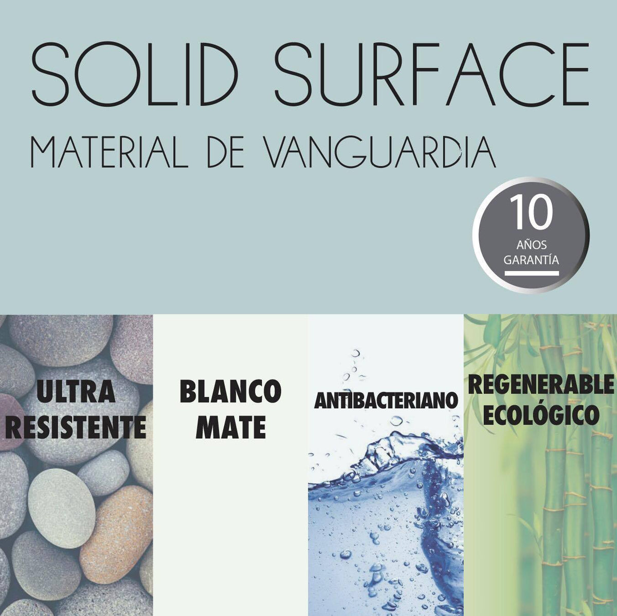 Bañera Solid Surface 170cm MODERN