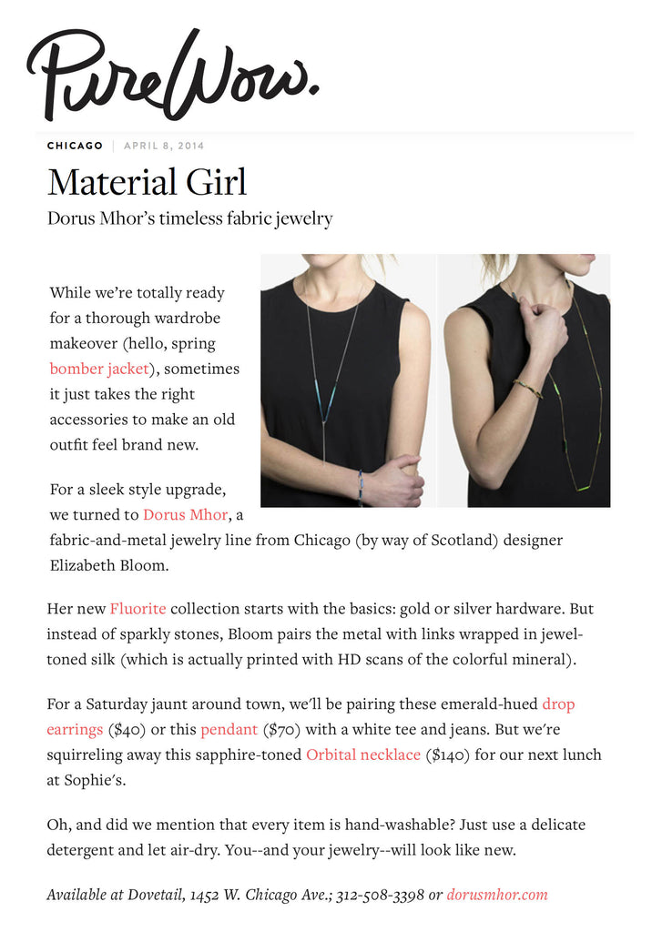 Fluorite Collection featured on PureWow