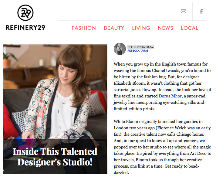 Interview feature on Refinery29