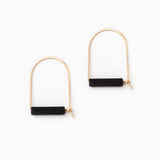 Black Arch Earrings
