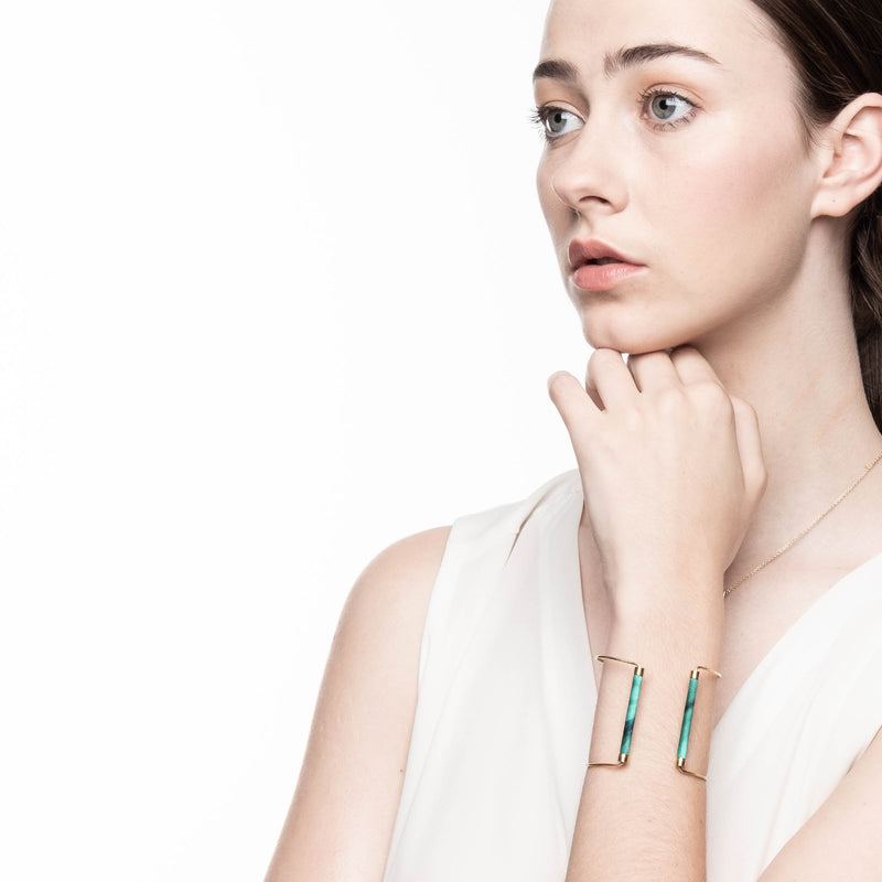 Weston Malachite Cuff