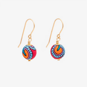 Liberty Peacock Garden Drop Earrings