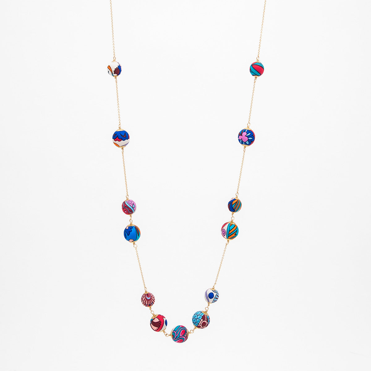 Liberty Peacock Garden Orbital Necklace Long