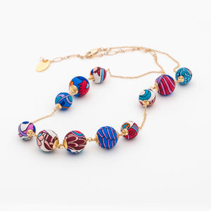 Liberty Peacock Garden Orbital Necklace Short