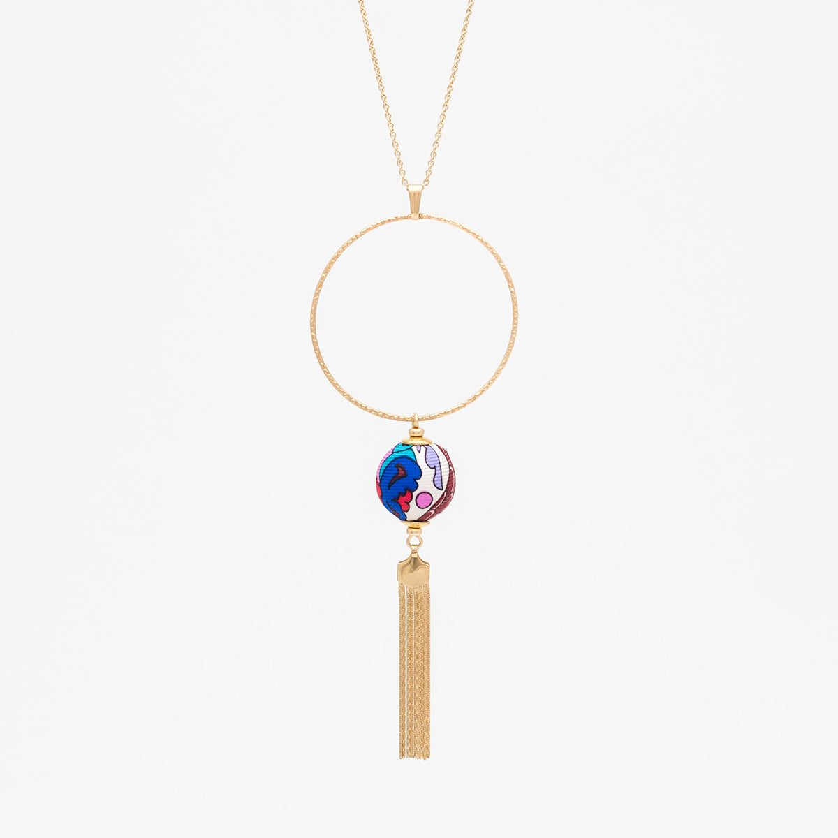 Liberty Peacock Garden Tassel Necklace