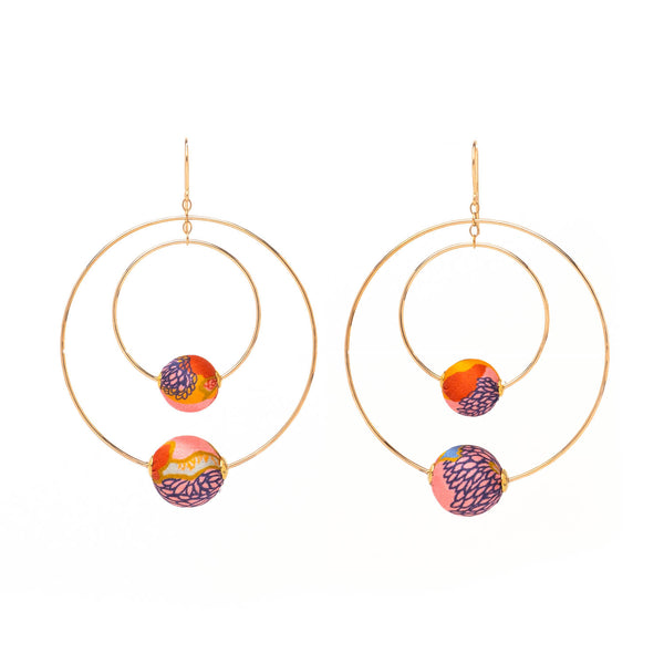 Liberty Silk Double Hoop Earrings