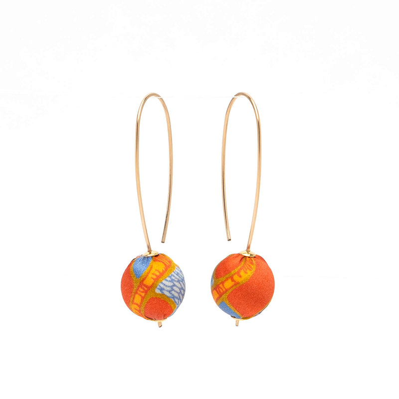 Liberty Silk Long Drop Earrings