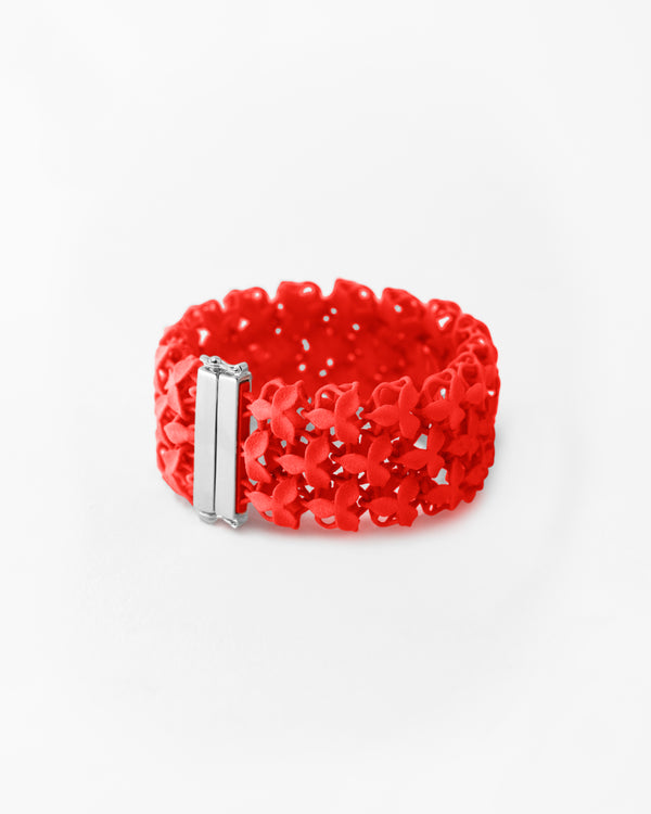 FABNORA Blossom | Lobster Red | 3 Row Bracelet