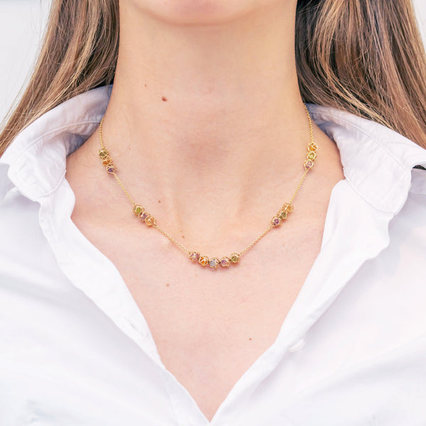 EMBRACE AMALFI COAST Multi-Star Necklace 18ct Yellow Gold