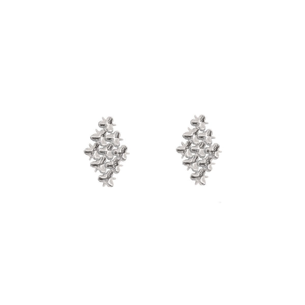 AFFINITY 3x3 Hash Earrings Silver