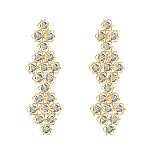 EMBRACE COUTURE LONDON SKY Contessa Earrings