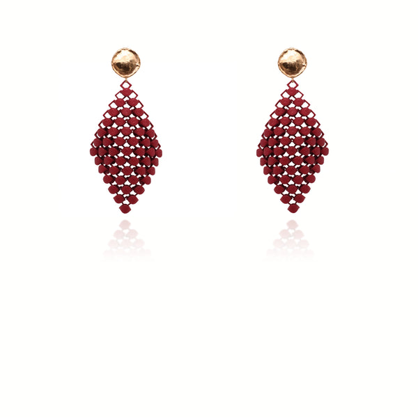 FABNORA | Bordeaux Red | Earrings S