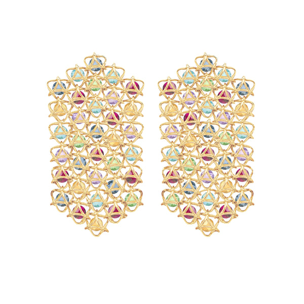 EMBRACE COUTURE MONTREAL LEAVES Waterfall Earrings