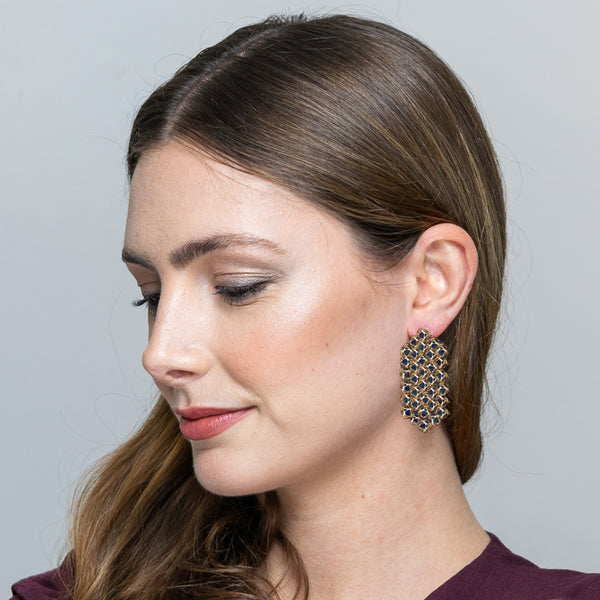 EMBRACE COUTURE LONDON SKY Waterfall Earrings