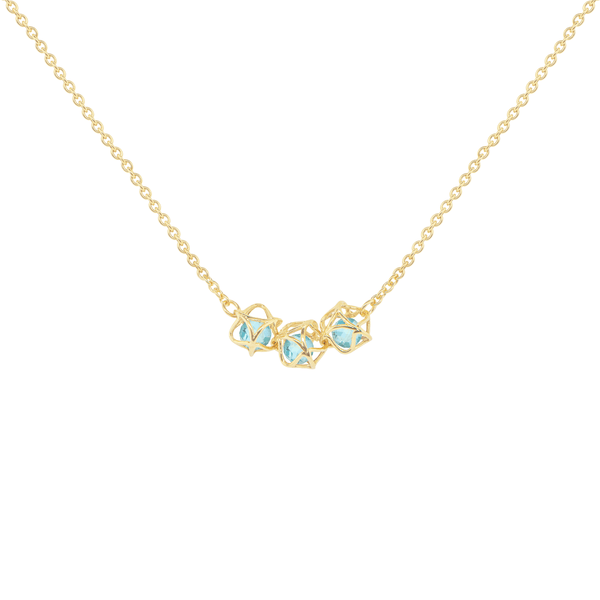 EMBRACE COTE D'AZUR 3-Star Necklace 18ct Yellow Gold