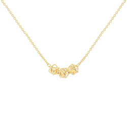 EMBRACE TUSCANY SUNSET 3-Star Necklace 18ct Yellow Gold