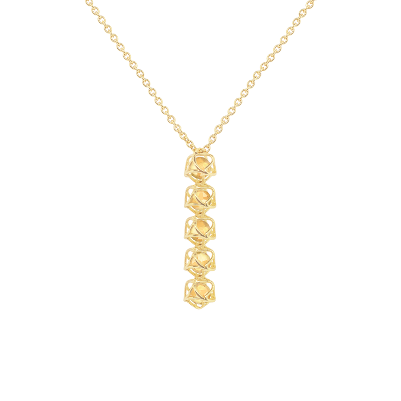 EMBRACE TUSCANY SUNSET 5-Star Fall Necklace 18ct Yellow Gold