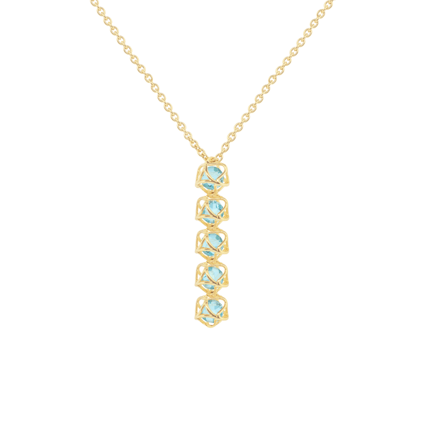 EMBRACE COTE D'AZUR 5-Star Fall Necklace 18ct Yellow Gold