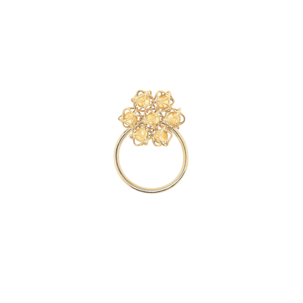 EMBRACE TUSCANY SUNSET Flower Ring 18ct Yellow Gold