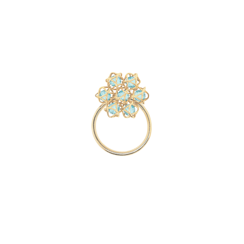 EMBRACE COTE D'AZUR Flower Ring 18ct Yellow Gold
